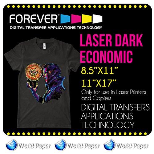 T- Shirts Heat Transfer Paper Laser printer FOREVER Laser-Dark Economy (11