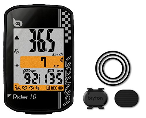 Bryton Rider 10Computer GPS, Negro, Talla única