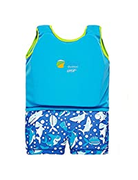 GudeHome Kids Swimming Float Suit Swim Aid Wear Neopren Suit One-piece Quick-drying Boys Swim Trainer, Blue 5-6 years