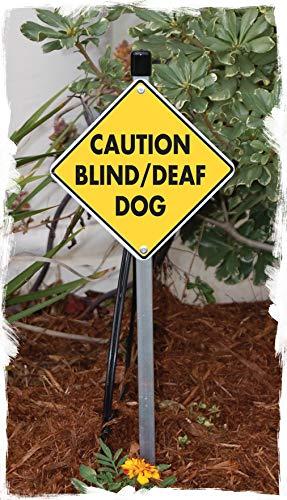 Caution! Blind and Deaf Dog Aluminum Dog Sign (6