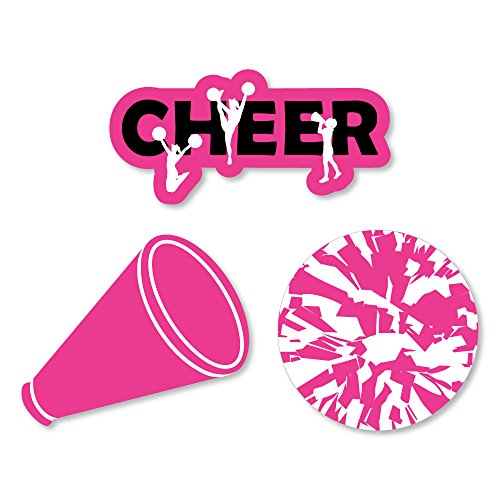 Big Dot of Happiness We've Got Spirit - Cheerleading - DIY Shaped Birthday Party or Cheerleader Party Cut-Outs - 24 Count -
