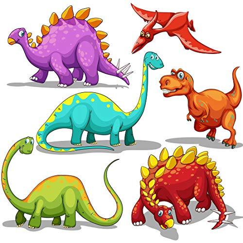 WAVEJOE 140pcs Tattoos for Kids 20 Desgins Dinosaur