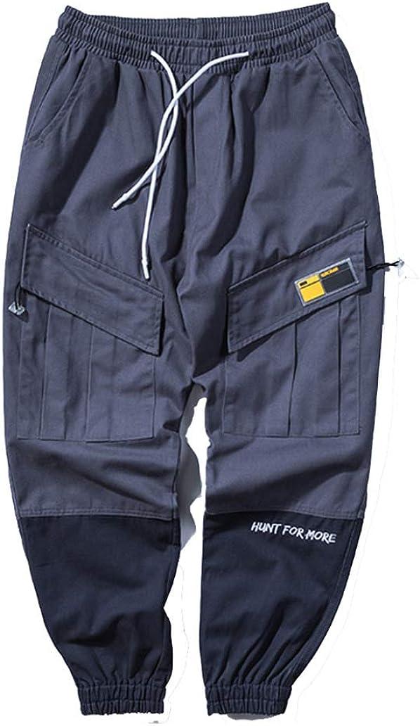 Sconosciuto Pantaloni da Uomo Casual Tute Harajuku Hip Hop Larghi Comodi Indossabili Indossabili Indossabili Street Wear Pantaloni