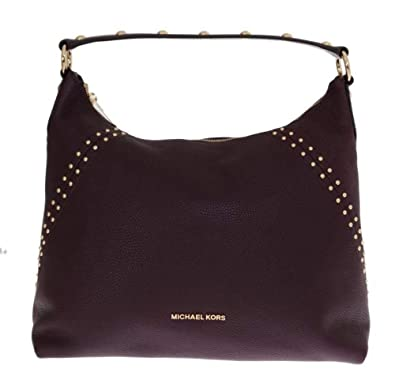 80fd2028168d Michael Kors Bordeaux Aria Leather Shoulder Bag: Handbags: Amazon.com