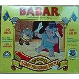 Babar -Interlocking Wood Board Preschool Puzzle-20 Pieces