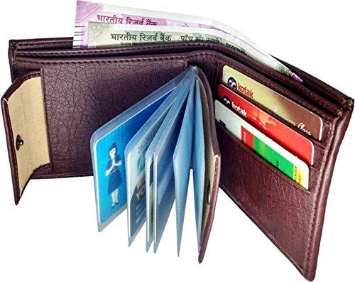 wenzest men's formal wallet  brown
