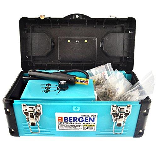Grapadora caliente Kit de reparación de plásticos termo soldador guardabarros paragolpes: Amazon.es: Coche y moto