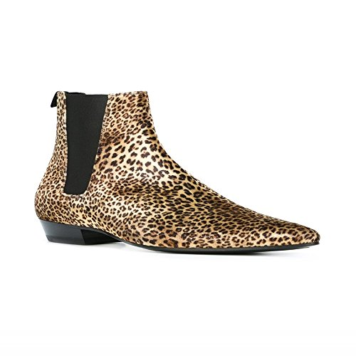 Jinfu Mens Leopard Stövlar (oss 8, Leopard)