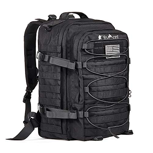 (YoMont COBT24 37L 1050D Military Tactical Backpack, 3 Day Army Molle Assault Waterproof Rucksack Pack for Outdoors, Hiking, Camping, Hunting, Fishing, Bug Out Bag)