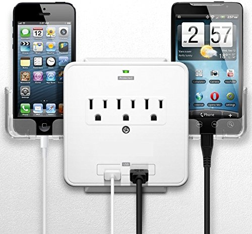 Smartphone Charging Station With Usb Outlet Multiplier - Dua