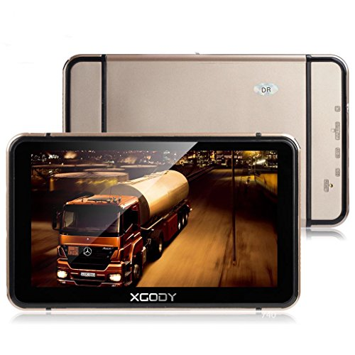 Xgody 740 7 Inch Portable Car Trucking GPS Navigation Touch Screen 8GB ROM Navigation System for...
