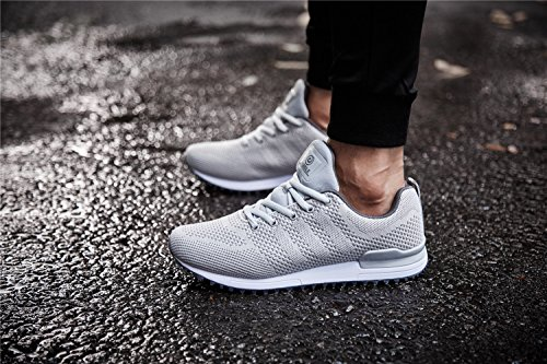 D Men Walking For Sneakers Sports Running Shoes Breathable 9 Grey Light M US Jogging 5 Lightweight qROAOSwa