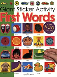 Giant Sticker Activity First Words [With Stickers]