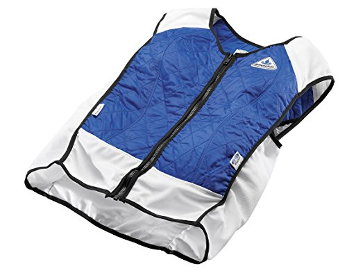 TechKewl Hybrid Cooling Vest, Blue, Large by TechKewl
