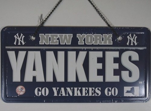 New York Yankees License Plate Sign