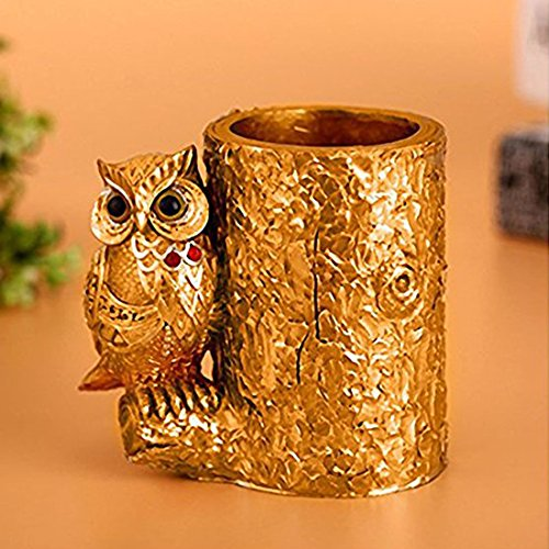 Owl Pen Holder Pencil Holder Container Brush Pot Brush Holder for Desk Organizer Decoration
