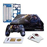 Controller Gear Uncharted 4 Fire Fight - PS4 PRO Horizontal Console Gaming Skin Pack - Licensed by PS