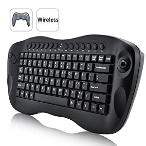 computer remote control mini wireless keyboard with trackball computers accessories. Black Bedroom Furniture Sets. Home Design Ideas