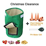 Aquarius CiCI Eco-Friendly Garden Planting Grow Bags - Vegetable Crop Sack Waterproof Potato Tomato Tub Pouch - Heavy Duty Holder