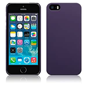 Apple iPhone 5 / 5S Hybrid Rubberised Case by Qubits - Purple (151-095-003_QB)