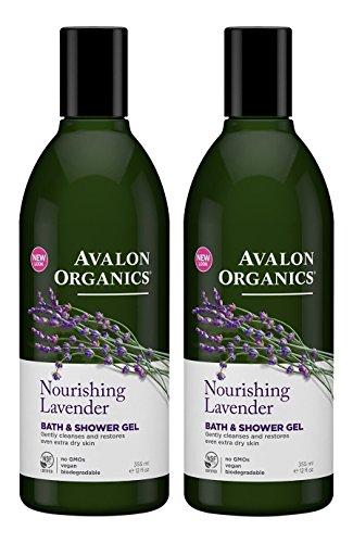 Avalon Organics Lavender Bath and Shower Gel, 12-Ounce Bottle (Pack of 2)