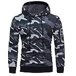 manadlian Veste Homme,Sweats à Capuche Hommes Camouflage Hoodie Sweat à Capuche Tops Veste Manteau Outwear À Manches… 6