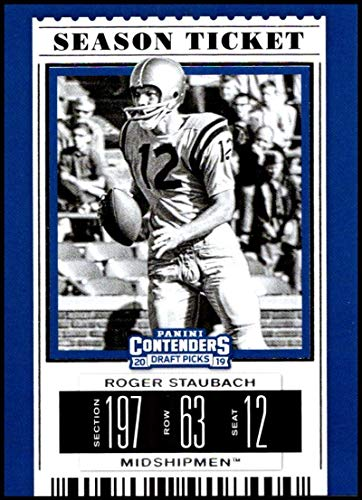 - 2019 Panini Contenders Draft Tickets Season Ticket #86 Roger Staubach NM-MT Navy Midshipmen Officially Licensed NCAA Collegiate Football Trading Card