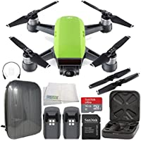 DJI Spark Portable Mini Drone Quadcopter Hardshell Backpack Essential Bundle (Meadow Green)