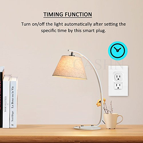 ACASHNA HS108 Smart Plug, No Hub Required, Wi-Fi, Control your Devices from Anywhere, Works Amazon Alexa Echo and Google Assistant (2Pack) by ACASHNA (Image #1)