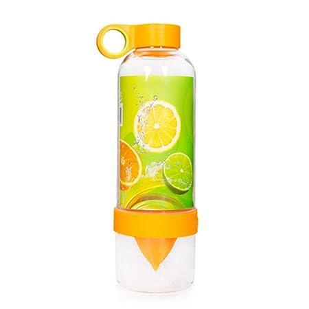 ZYS Botella de Agua plástica, licuadora portátil/Mezclador de ...