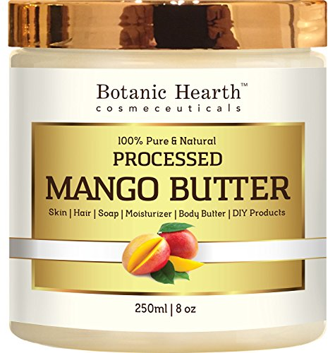 Botanic Hearth Mango Butter, Pure & Natural, Processed Premium Grade A, 8 Oz Mango Shea Butter Lotion