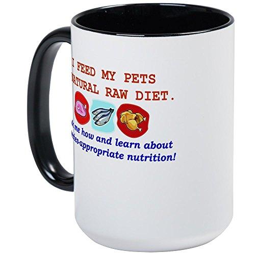 CafePress Kibble_Tee_Back Mugs Coffee Mug, Large 15 oz. White Coffee Cup