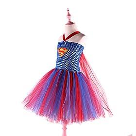 - 51FUQ3MWUHL - Dream-Store Little Girls Costume Dress Halloween Super Girls Cosplay Dress Costumes for Toddler and Girls