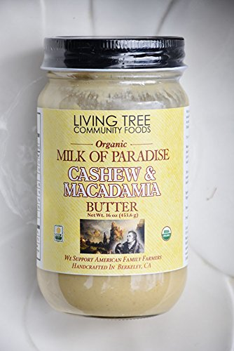 Macademia Nut - Living Tree Organic Milk of Paradise (Cashew and Macademia Butter) - 16 Ounce