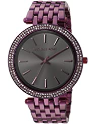 Michael Kors Womens Darci Quartz Stainless Steel Casual Watch, Color:Purple (Model: MK3554)