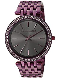 Michael Kors Darci Black Dial Ladies Plum-Tone Watch MK3554