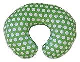 Boppy Pillow Slipcover, Plush Prints Green and White Dot