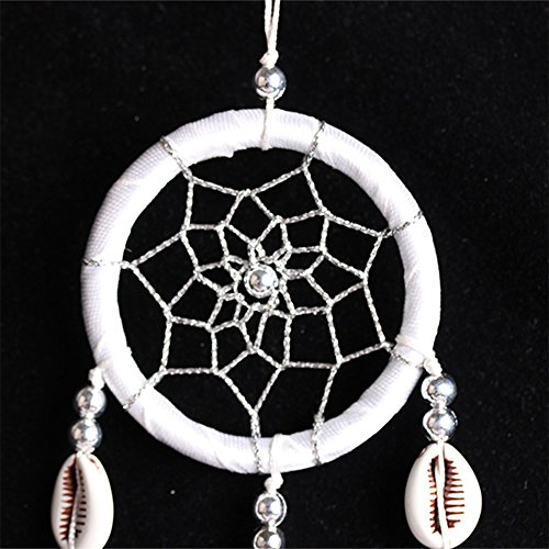 Per Mini Handmade Dream Catchers With Conch Wind Chimes Dreamcatcher Net Hanging Decoration Ornament For Bedroom /Car /Wedding(2.367.09in)-Black by Per (Image #3)