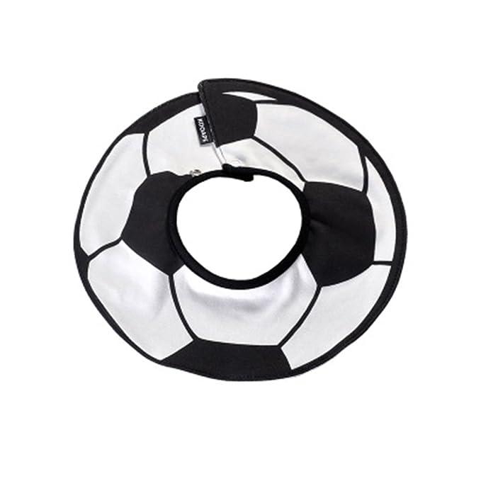 Bekleidung Fußballmuster Baumwolle Wasserdicht Weich Einstellbar 360 ° Drehbar Doppelschnappverschluss Baby-Lätzchen Accessoires