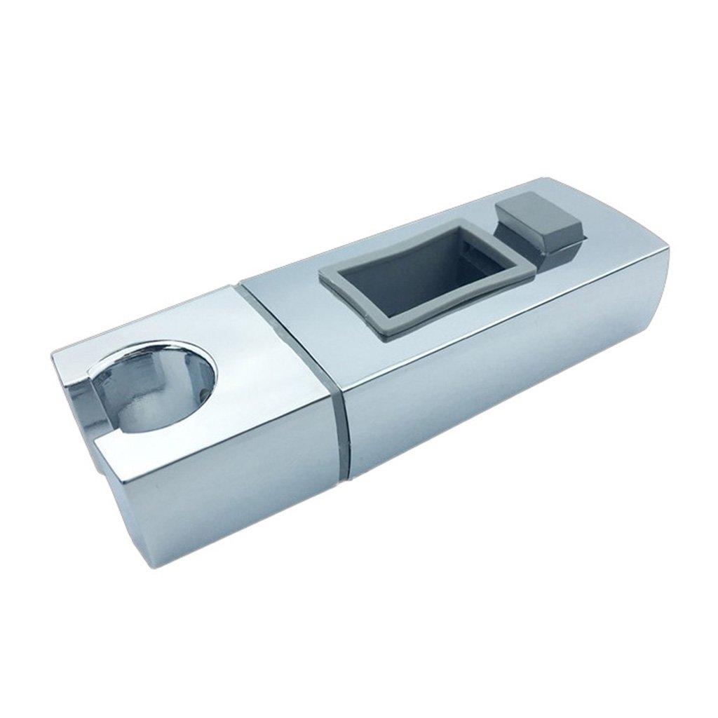 B Blesiya Modern Shower Head Holder, Stainless Steel Handheld Showerhead Bracket, Universal Bathroom Wall Mount Bracket Holder