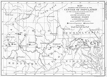 Amazon.com: USA. WV OH MD VA KY. map center median Pt ...