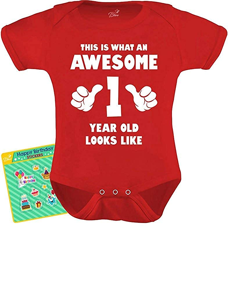 Years This is What an Awesome One Year Old Looks Like Baby Bodysuit with