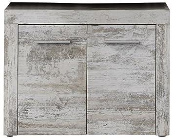 trendteam Muebles, Pino, Blanco, 72 X 56 X 34 cm