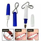 Pevor Portable Mini Travel Plaque and Tartar Remover — Stain Eraser Dental Tooth Pick Interdental Pick Oral Hygiene Tooth Kit