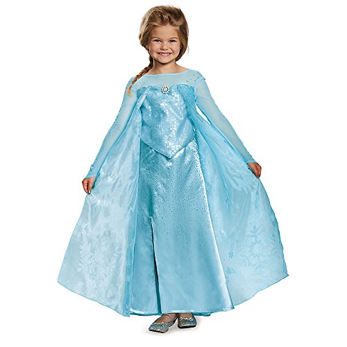 Disguise Elsa Ultra Prestige Costume, Medium (7-8) ()