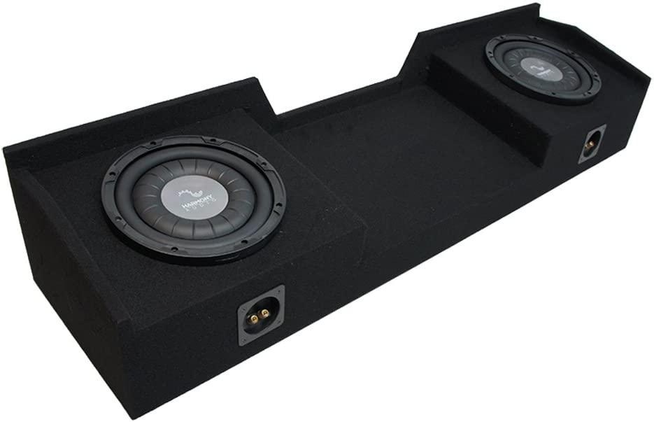Compatible with 2004-2015 Nissan Titan King or Crew Truck Harmony F124 Dual 12 Sub Box Enclosure