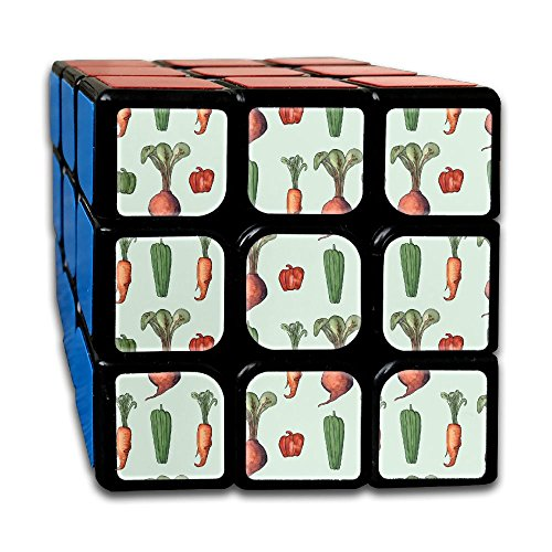 LjcuB Veggie Party Carrot 3x3x3 Speed Cube Toys Smooth Sticker Magic Cube Puzzles 55mm Anti-pop Best Brain Training Gift Idea For Kids Or Adults by YueluLJB