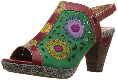by Heeled L'Artiste Spring Women Step Multi Sandal Belen Red 6qwPORvwxd