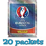 Panini UEFA Euro 2016 France sticker collection sticker pack - 20 packets (100 random stickers) UK version by UEFA Euro 2016 France
