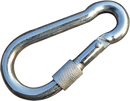 Multifunction Steel Carabiner Snap Hook Clip Keychain w// SCALE Hiking Camping